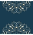 Beautiful blue lace pattern background vector image vector image