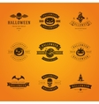 Halloween Badges and Labels Greetings Cards vector image vector image