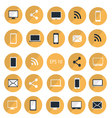 set of digital devices icons yellow vector image
