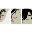 woman hair back vector image vector image