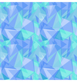 Abstract polygonal blue triangular seamless vector image