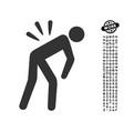 backache icon with work bonus vector image