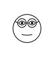 clever emoticon vector image
