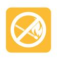 NO matches Prohibition icon vector image