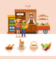 people in cafe choose products from the menu vector image