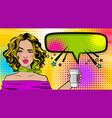 pop art cartoon comic sexy woman vector image