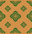 seamless pattern geometric flowers flower vector image