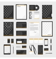 Corporate style template grid vector image vector image