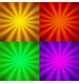 Four backgrounds vector image vector image