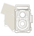 Vintage photo camera with vignette vector image vector image