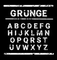 alphabet grunge letters collection text lettering vector image