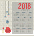 2018 cozy living room flat design printable vector image