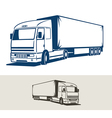 truck with semitrailer vector image