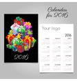 Festive calendar with a mountain of gift boxes vector image