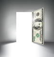Money Door vector image vector image