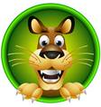 skinny cute cartoon lion isolated vector image vector image