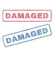 Damaged textile stamps vector image