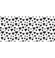 hand-drawn doodle pattern with hearts banner vector image