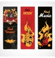 Rock music banners set vector image