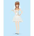 Romantic cartoon bride vector image