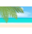 Beach and tropical sea landscape vector image