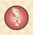 vintage badge sticker sign for barber vector image