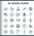 traveling icons set collection of phone vector image