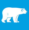 wild bear icon white vector image
