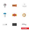 flat icon plumbing set of water filter drain vector image