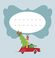Holiday card with aligaror and giraffe vector image