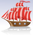old sailing vessel vector image