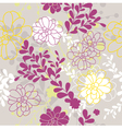 abstract cute seamless floral background vector image
