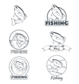 Set of trout banners vector image