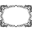 silhouette frame flowers vector image