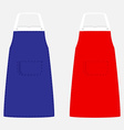Blue and red apron vector image