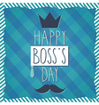 Happy bosss day icon vector image