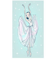 dancing beautiful ballerina vector image