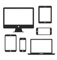 device screen icon set vector image