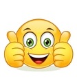 Emoticon showing thumb up vector image