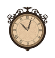 Forging retro clock with vignette arrows isolated vector image