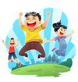 Happy Jumps vector image