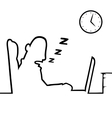 Man asleep at work vector image