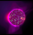 pink disco ball vector image