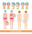 plastic surgery patient woman before vector image