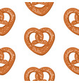 seamless pattern with hand drawn pretzels vector image