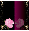 Vector abstract background with pink roses vector image