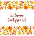 Autumn lettering background Autumn background vector image