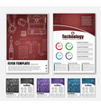 Design brochures with technical drawings vector image