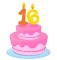A birthday cake Vector Image