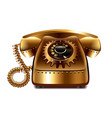 Steampunk retro phone isolated vector image vector image